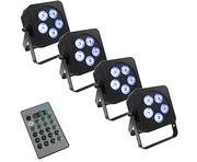 LEDJ Slimline 5Q5 x4 & Remote Package