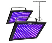 2x Chauvet LED Shadow With T-Bar Stand