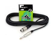 Gorilla Essential Cable 6m Mono Jack To Female XLR Microphone Lead