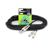 Gorilla Essential Cable 6m 2 x Mono Jack To 2 x RCA Phono Twin Lead
