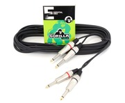 Gorilla Essential Cable 6m 2 x Mono Jack To 2 x Mono Jack Twin Lead