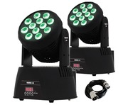2x Equinox Fusion 150 Moving Heads With DMX Cable