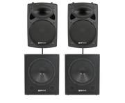 QTX Sound QR15K Speakers & QT15SA Subs Package