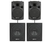 QTX Sound QR15K Speakers & QT18SA Subs Package