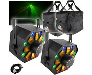 2x Chauvet Swarm Wash FX with 2x Chauvet CHS-40 Bags