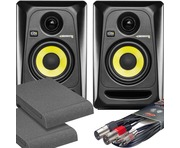 2x KRK RP4 G3 Black with Pads & Cables