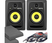 KRK Rokit RP6 G3 with Isolation Pads & Cables