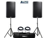 Alto TS212W Speaker Pair with Stands and Cables