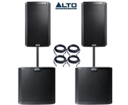 Alto 2x TS210 Speakers & 2x TS215S Subwoofers