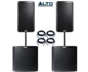 Alto 2x TS215 Speakers & 2x TS212S Subwoofers