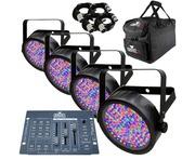 4x Chauvet SlimPAR 56, Obey 3 Controller, Bag & Cables