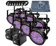 8x Chauvet SlimPAR 56 With Obey 3 Controller Package