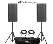 dB Technologies Opera 12 Pair with Stands and Cables