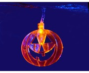 QTX LED Halloween String Lights - 10 x Orange Pumpkins
