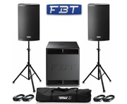 2x FBT X-Lite 15A Speaker and 1x FBT Subline 15SA Package