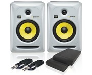 KRK Rokit RP6 G3 W & Isolation Pads & Cables