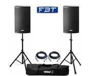 FBT X-Lite 15A (Pair) with Stands & Cables