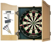 Unicorn Striker Dartboard & Home Darts Cabinet Set