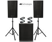 db Technologies B-Hype 15 (Pair) with Sub 618