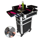 Pro Cosmetic Beauty Makeup Trolley Case Black
