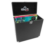 "Gorilla LP-45 Retro 12"" Vinyl Record Storage Case (Taxi Black)"