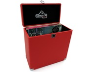 "Gorilla LP-45 Retro 12"" Vinyl Record Storage Case (Phone Box Red)"