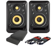 KRK V4S4 Black (Pair) with Pads & Cables