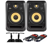 KRK V6S4 (Pair) with GSM-50 Stands & Cables