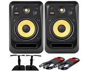 KRK V8S4 (Pair) with GSM-50 Stands & Cables