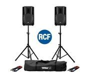 RCF Art 708-A MK4 PA Speaker (Pair) with Stands & Cables