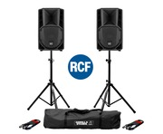 RCF Art 710-A MK4 PA Speaker (Pair) with Stands & Cables