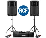 RCF Art 315-A MK4 Speaker (Pair) with Stands & Cables