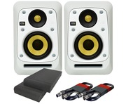KRK V4S4 White Noise (Pair) with Pads & Cables