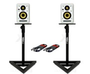 KRK V4S4 White Noise (Pair) with Monitor Stands & Cables