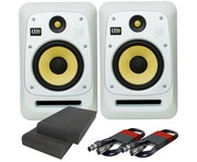 KRK V8S4 White Noise (Pair) with Pads & Cables