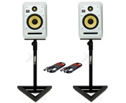 KRK V8S4 White Noise (Pair) with GSM-100 Stands & Cables