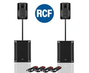 RCF Art 710-A MK4 PA Speaker (Pair) + RCF Sub 705-AS II (Pair)