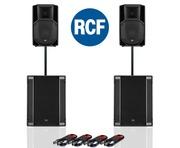 RCF Art 712-A MK4 PA Speaker (x2) & RCF Sub 708-AS II (x2)