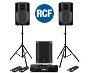 RCF Art 715-A MK4 PA Speaker (Pair) + RCF Sub 705-AS II