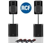 RCF Art 715-A MK4 PA Speaker (Pair) & RCF Sub 705-AS II (Pair)