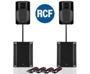 RCF Art 715-A MK4 PA Speaker (Pair) + RCF Sub 708-AS II (Pair)
