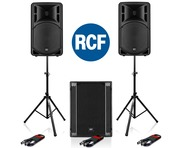 RCF Art 312-A MK4 Speaker (Pair) + RCF SUB 705-AS II Subwoofer