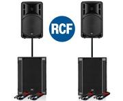 RCF Art 312-A MK4 Speaker (Pair) & RCF SUB 705-AS II (Pair)