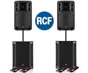 RCF Art 315-A MK4 Speaker (Pair) & RCF SUB 705-AS II (Pair)