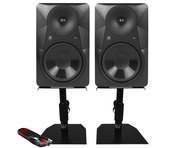 Mackie MR824 (Pair) with GSM-50 Stands & Cable