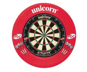 Unicorn Striker Board & Surround with 2 Sets of Darts