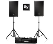 Electro-Voice ELX112P with Stands and Cables
