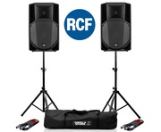 RCF Art 735-A MK4 PA Speaker (Pair) with Stands & Cables