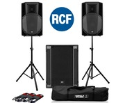 RCF Art 735-A MK4 PA Speaker (Pair) with RCF Sub 705-AS II
