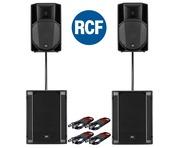 RCF Art 735-A MK4 Speaker (Pair) & RCF Sub 705-AS II (Pair)